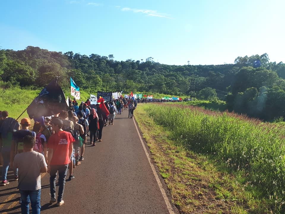 movilizacion XVI Campamento de la Juventud